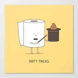 Dirty tricks Canvas Print