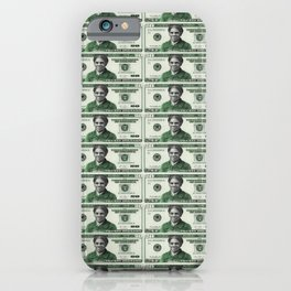Uncut Sheet of Proposed African American Icon Harriet Tubman U.S. Mint 20 Dollar bills iPhone Case
