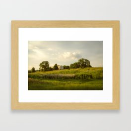 Rural / Farmhouse Landscape Photo Remnant of Better Days - Nature - Country - Meadow Framed Art Print