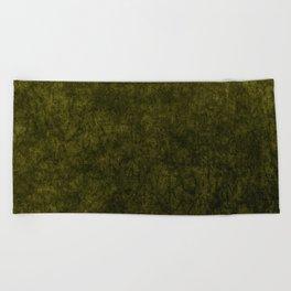olive green velvet   texture Beach Towel