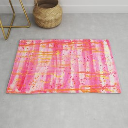 Confetti Abstract High Flow Acrylic Painting Rug