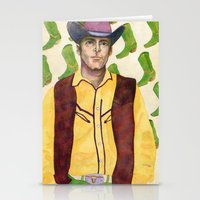 cowboy Stationery Cards featuring Cowboy by eileen tomson