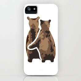 BEAR COUPLE iPhone Case