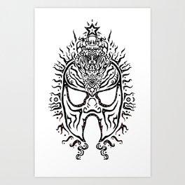 El Luchadore Art Print