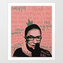The Notorious RBG. Art Print