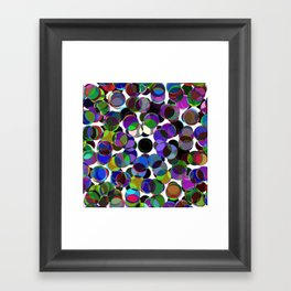 Cluttered Circles III - Abstract, Geometric, Pastel Coloured, Circle Patterned Artwork Framed Art Print