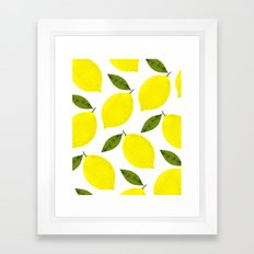 When Life Gives You Lemons Framed Art Print