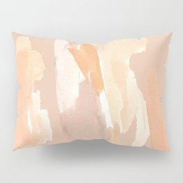 Minimalist Watercolor Blush Tones Art Print Pillow Sham