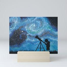 Observing the Universe Mini Art Print