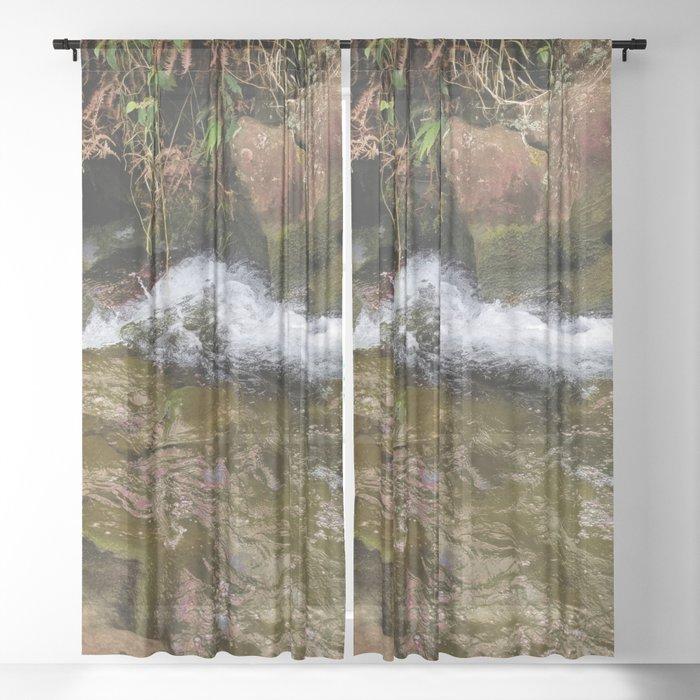 Rushing Water Sheer Curtain