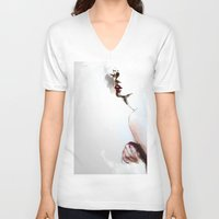 pi V-neck T-shirts featuring Pi C by Dnzsea