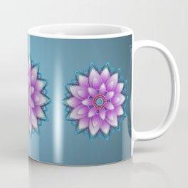 Embroidered look, purple Coffee Mug
