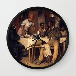 African American Masterpiece 'A Pastoral Visit' by Richard Norris Brooke Wall Clock
