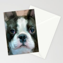 I Adore You Boston Terrier Art Stationery Cards