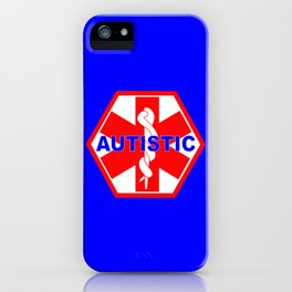 AUTISM medical alert identification tag iPhone Case