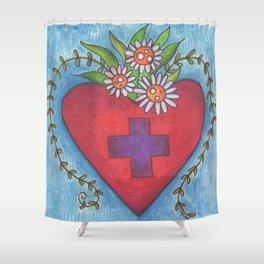 Healing HEART Shower Curtain