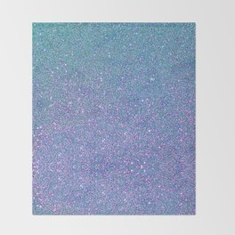 BLUE GLITTER Throw Blanket