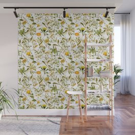 Vintage & Shabby Chic - Yellow Wildflowers Wall Mural
