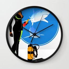 Scuba Girl - Adventure Poster Edition Wall Clock