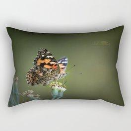 An American Lady Buttefly Rectangular Pillow