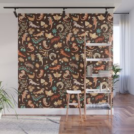 Autumn Geckos Wall Mural