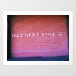 Times World Paper Art Print