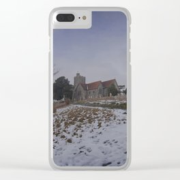 Boughton Church In Winter Clear iPhone Case