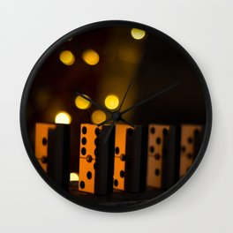 In way of dominoes Wall Clock
