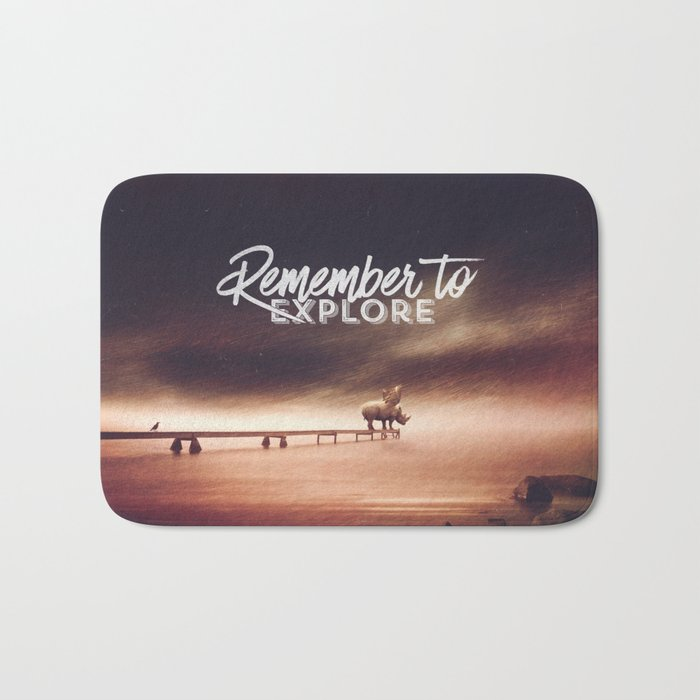 Remember to explore - text version Bath Mat