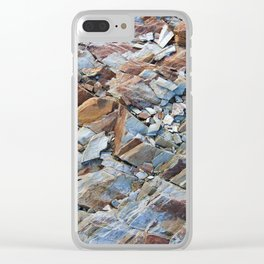Natural Rock Pattern Clear iPhone Case