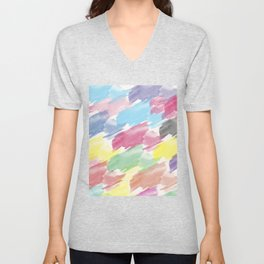 Abstract 38 Unisex V-Neck