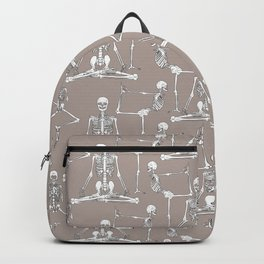 Skeleton Yoga Grey Backpack