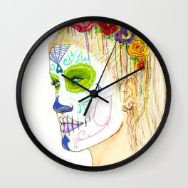 Reina de los Zombies Wall Clock