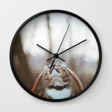 Cat in a basket Wall Clock