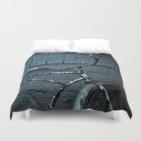 bicycle Duvet Covers featuring Bicycle by Jamie Klock
