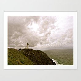 Tucked away lighthouse. Art Print