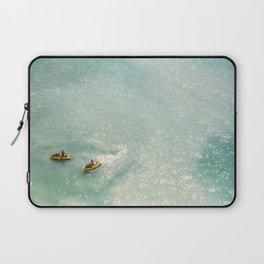 Jet Ski Friends in the Ocean   Paradise   Beach Mood   Aerial Photography   Ocean Print Laptop Sleeve