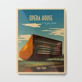TypeTopia Opera House Metal Print