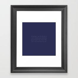 No Grudge Framed Art Print