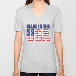 Made In The USA - Patriot/Independence Day Unisex V-Neck