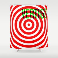 vertigo Shower Curtains featuring VERTIGO by Brian Walker