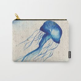 Blue Jellyfish Ocean Magical Underwater Watercolor Art Carry-All Pouch