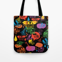 """Little Trucks: Night Time Pattern""  Tote Bag"