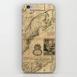 Map of North America (British Colonies) 1731 iPhone Skin