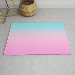 Simple modern summer beach bright teal pink ombre gradient pattern Rug