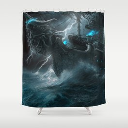 The Galley of Death Shower Curtain