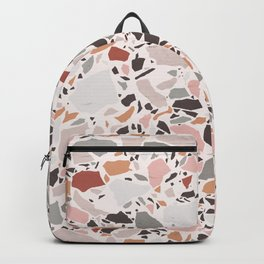 Neutral Terrazzo / Earth Tone Abstraction Backpack