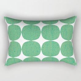 White Starburst on Green Rectangular Pillow