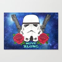 stormtrooper Canvas Prints featuring Stormtrooper by Larissa