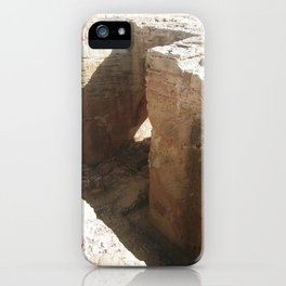 Color Travel Art Rock and a hard place #1 iPhone Case